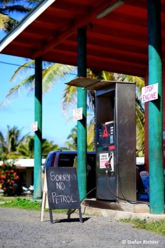 Kein Benzin mehr auf der Insel - passiert eben...