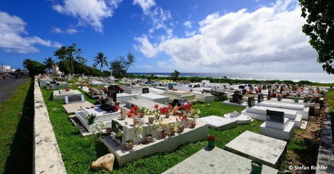 Friedhof mit Meerblick.
