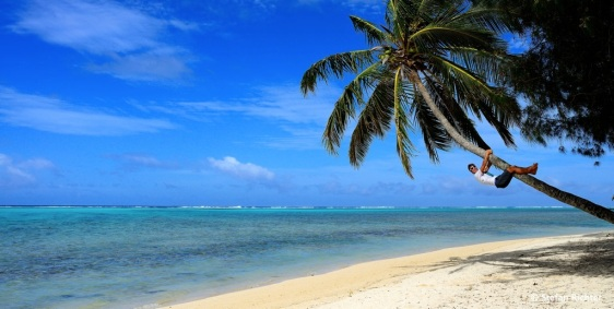Abhängen auf den Cook Islands.