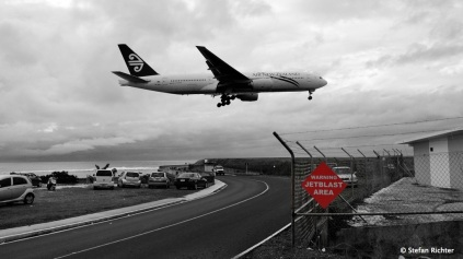 Touristen Highlight - Flugzeuglandung!