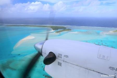 Es geht weiter nacht Aitutaki. 50 min Flugzeit von Rarotonga.