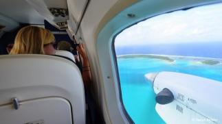 Anflug in's Paradies: Aitutaki.