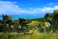 Die Lagune von Aitutaki.