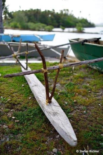 Fischerboot am Tautu Bootsanleger.