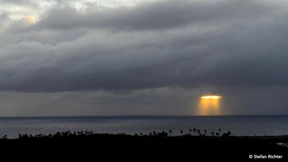 Lichtblick beim Sonnenaufgang.