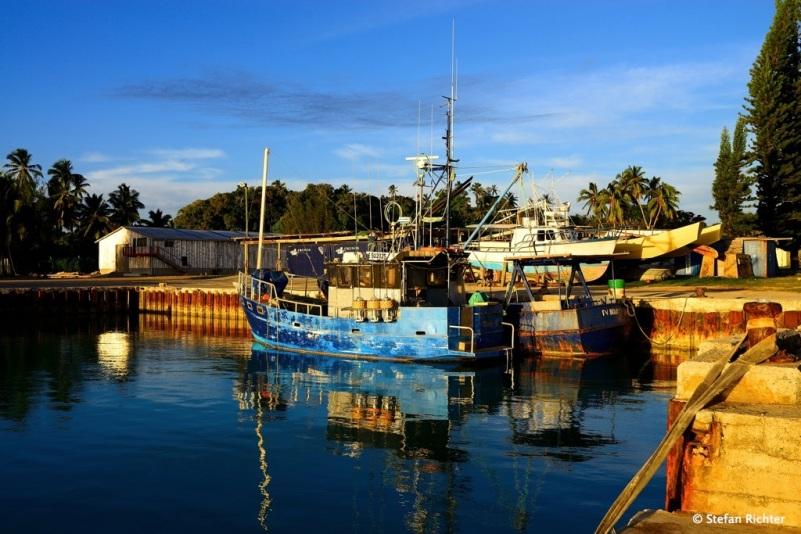 Der Hafen von Arutanga, Aitutaki.