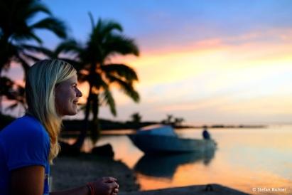 Und noch ein kitschiger Sonnenuntergang im Paradies.