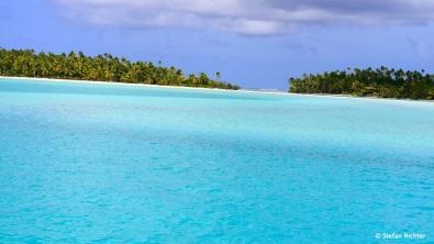 Blauansichten mit Inseln.