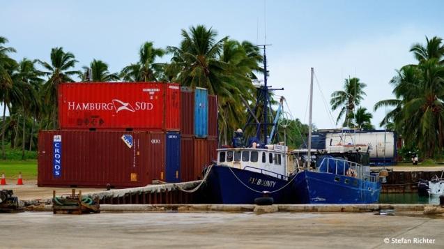 Hamburg Süd auf Aitutaki.