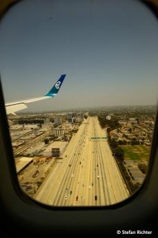 Anflug auf Los Angeles.