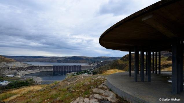 Zwischenstopp am Grand Coulee Staudamm, Washington.