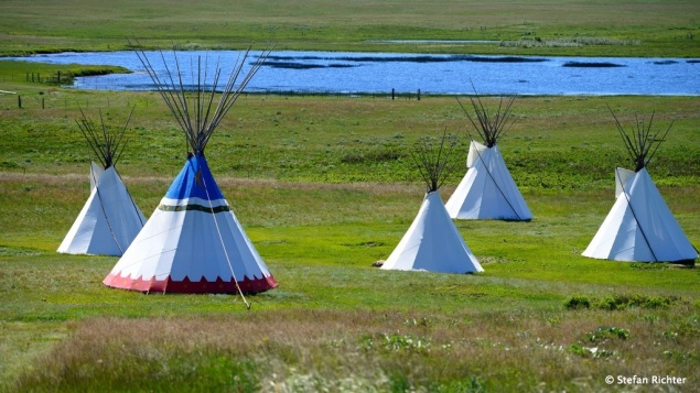 Wir sind in Blackfeet Country.