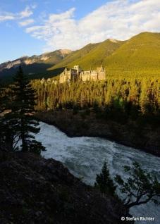 Sonnenaufgang am Banff Springs Hotel.