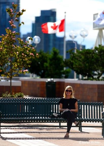 Die Sonnenstunden in Vancouver ausnutzen.