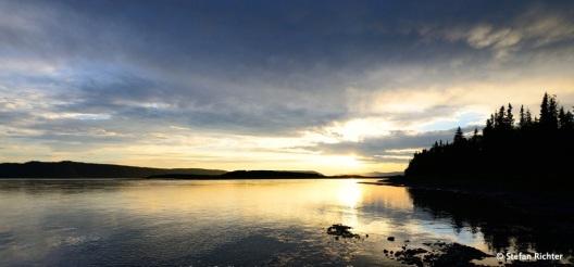 So was wie Sonnenuntergang am Yukon.