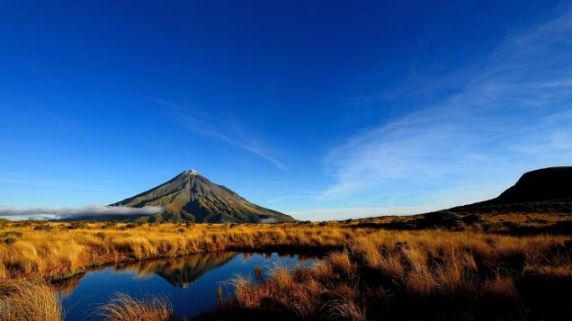 Mt. Taranaki, Neuseeland.