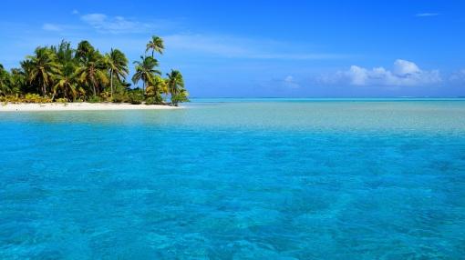 Ozeanien. One Foot Island, Aitutaki, Cook Islands.