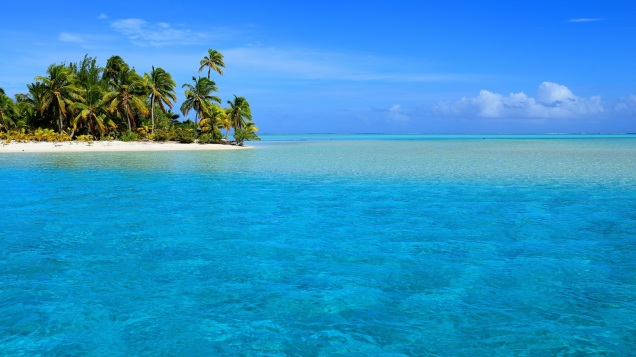 One Foot Island, Aitutaki, Cook Islands.