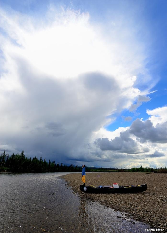 Wolkenbeobachtungen. Als Galionsfigur lässt sich das viel besser beobachten. Besonders vom Land aus.