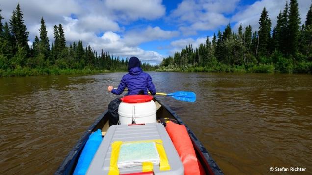 Auf dem endlosen Weg durch die Yukon Flats @ Beaver Creek.