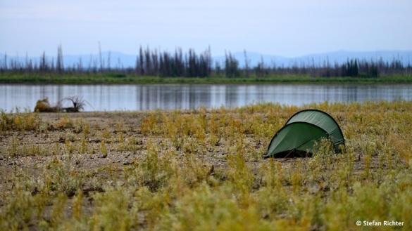 In den Yukon Flats werden die Kiesbänke wieder größer.