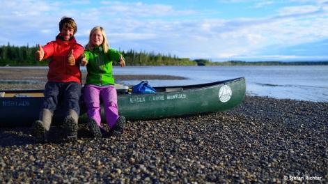 Eine Frau, ein Mann, ein Boot. In 21 Tagen sind wir über 850 km gepaddelt.