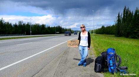 Zurück von Fairbanks nach Anchorage: Per Anhalter.
