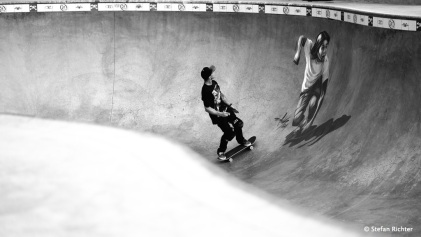 Noch nie so viele Skater gesehen. Venice Skate Park.