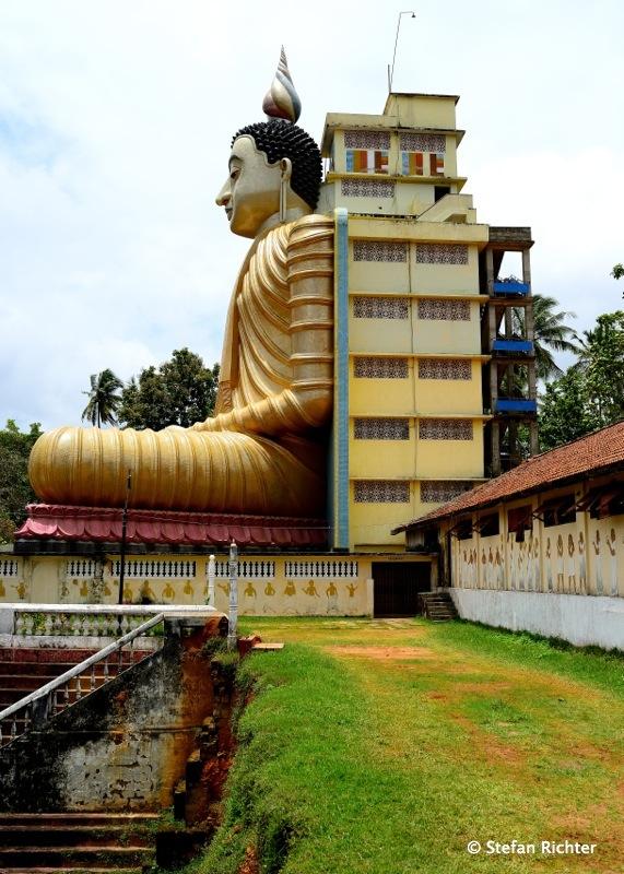 Wewurukannala Vihara mit 50m hohen sitzenden Buddha. Wieder der größte in Sri Lanka.