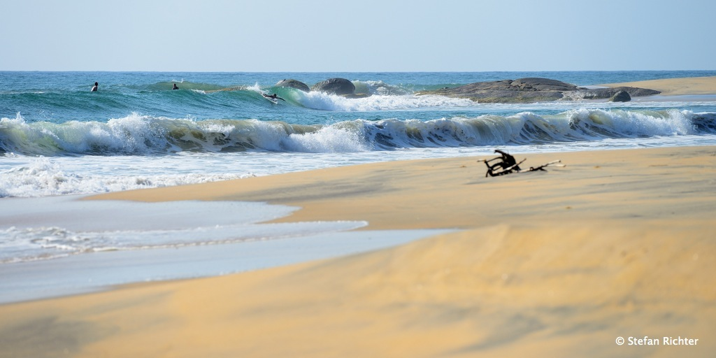 Surfing @ Lighthouse Point, Sri Lanka.