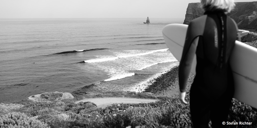 Tag aus Tag ein das gleiche Spiel mit den Wellen....