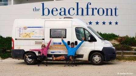 Wir wohnen Beachfront - und zwar jede Nacht!
