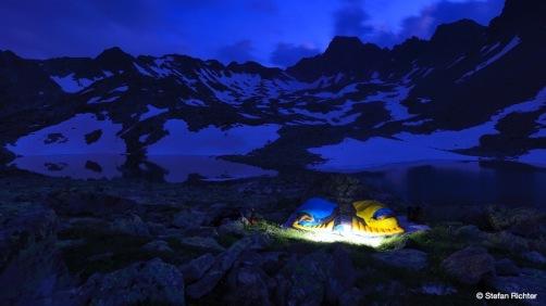 Schlafen unterm Sternenhimmel.