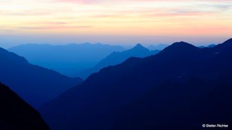 Morgenstimmung in den Bergen.