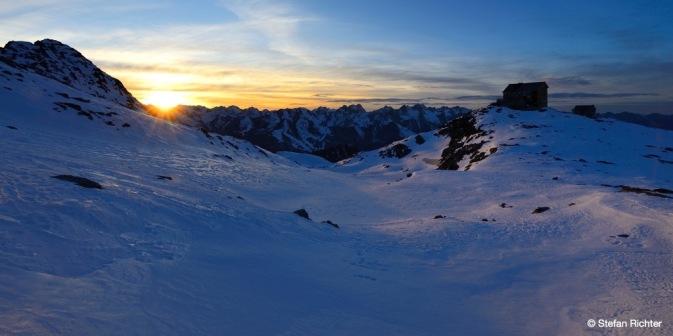 Hochstubaihütte in den Stubaier Alpen.