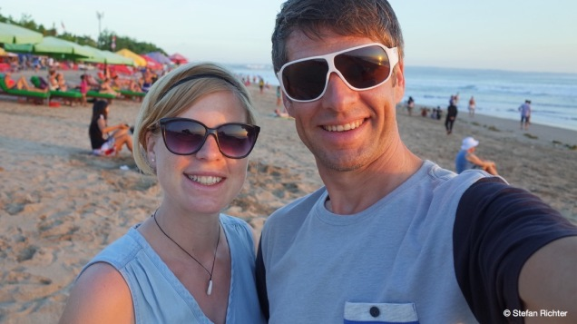 Sunset Selfie am Kuta Beach.