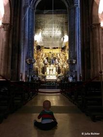 Abkühlung in der Kathedrale.
