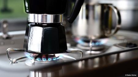 Kaffee darf nicht fehlen.