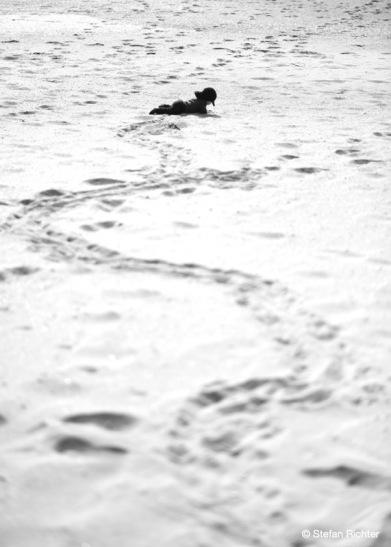 Finn macht lieber Wellen im Sand.