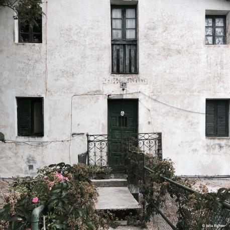 Hauswand im Baskenland.
