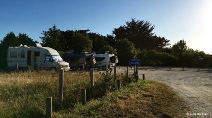 Kostenloser Wohnmobilstellplatz in der Bretagne.
