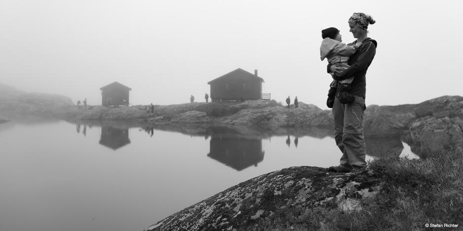 Trotz Nebel, wir sind immer unterwegs gewesen.