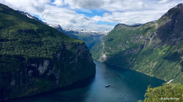 Unser Wochenziel: Der Geirangerfjord.