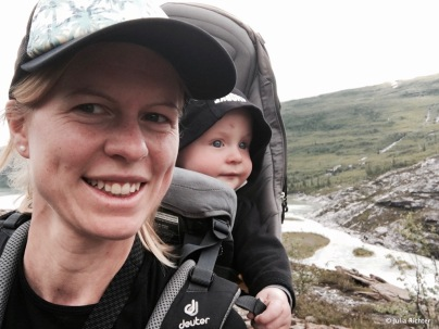 Selfie Time auf dem Weg zum Svartisen Gletscher.