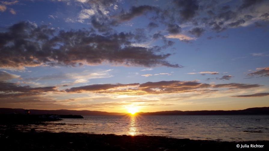 Sunset @ Trondheim Fjord.