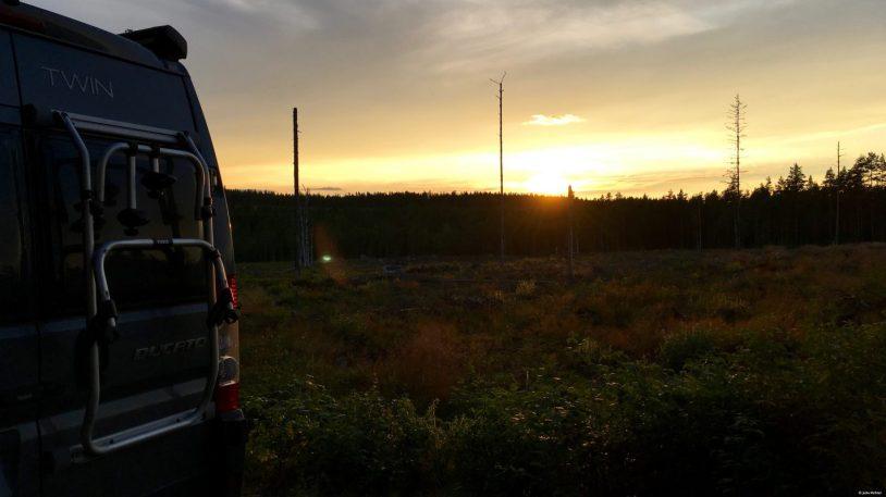 Sunset irgendwo in Schweden.