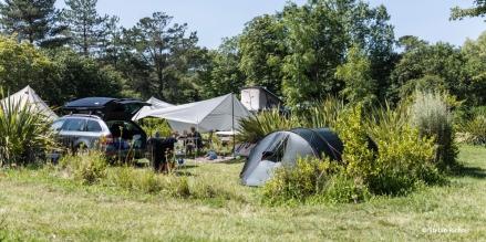 Erster Campingplatz am Plage de Goulien.