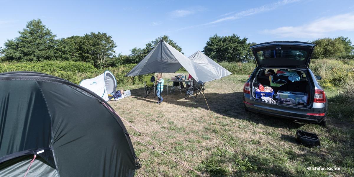Unser Campingplatz bei Le Conquet.