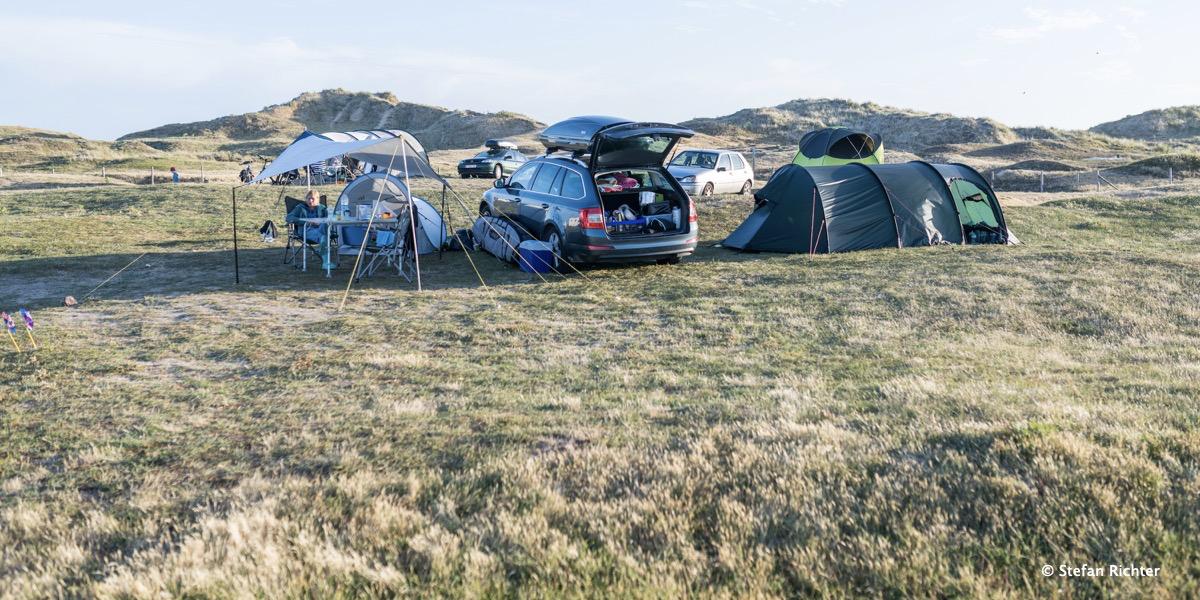 Camping Set up. Das Tarp war allerdings eine Notlösung.